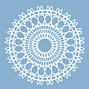 Spiro Ceiling Rose Sticker