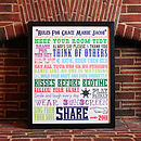 Personalised Family House Rules Print