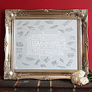 Personalised Wedding Signing Frame