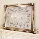 Personalised Wedding Signing Frame