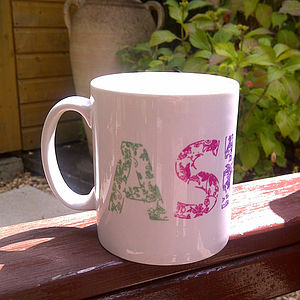 Personalised Floral Mug - tableware