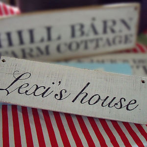 Personalised Hand Made Sign - decorative accessories