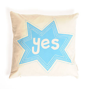'Yes' And 'No' Cushion - cushions