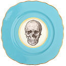 Upcycled Skull Design Vintage Side Plate