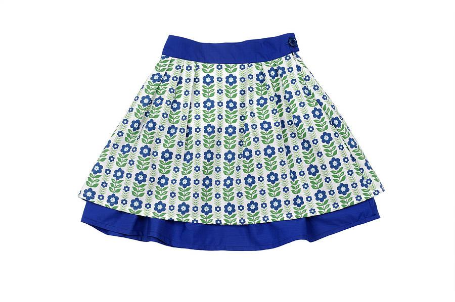 Retro Folk Flower Skirt