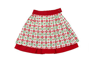 Retro Folk Flower Skirt