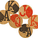 Gamblers Charm Cork Coasters 50% Off