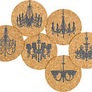 Chandelier Cork Coasters 50% Off Sale