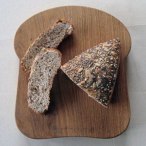 Oak Bread Board - cooking & food preparation