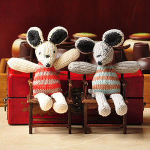 Hand Knitted Organic Cotton Mouse Soft Toy - toys & games