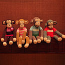 Organic Cotton Monkey Soft Toys - Four Styles