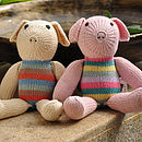 Hand Knitted Pig Soft Toy