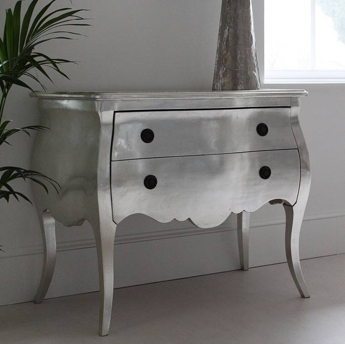 Silver French Chest Of Drawers