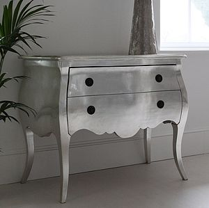 Silver French Chest Of Drawers - furniture