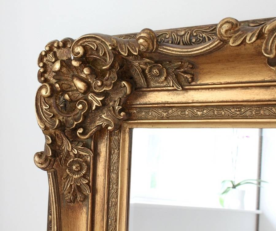 Ornate Wooden Mirror In Four Colours By Out There