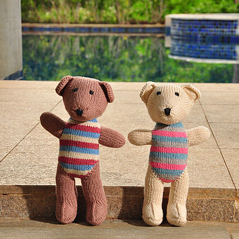 Hand Knitted Teddy Soft Toy