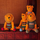 Organic Cotton Lion Soft Toy - Four Styles