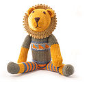 Organic Cotton Lion Toy - Grey Top