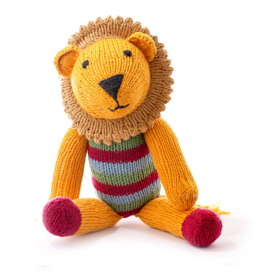 Hand Knitted Toys : Hand knitted lion soft toy by chunkichilli
