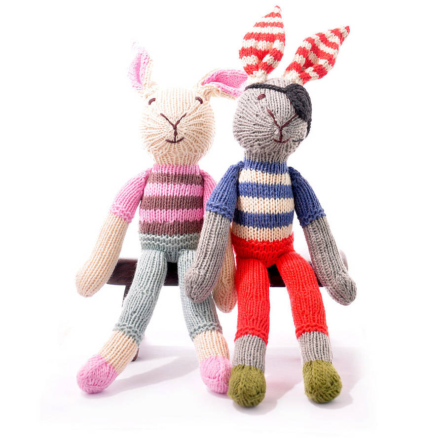 Soft Toys Product : Hand knitted soft toy rabbit by chunkichilli