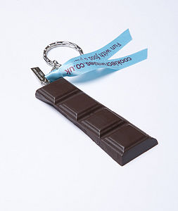 Dark Chocolate Bar Keyring