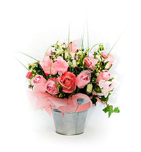 Pink Confectionery Bouquet - trees & flowers