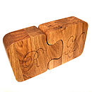 Jigsaw Boxes Solid Oak Personalised Gift Boxes from Cleancut Wood 1