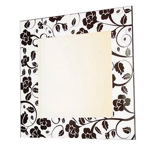 Black And White Rose Mirror - mirrors