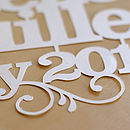 Bespoke Papercut Words