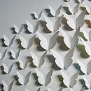 Bespoke White Butterfly Map Artwork