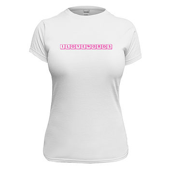 Women's Personalised Word Tile T Shirt