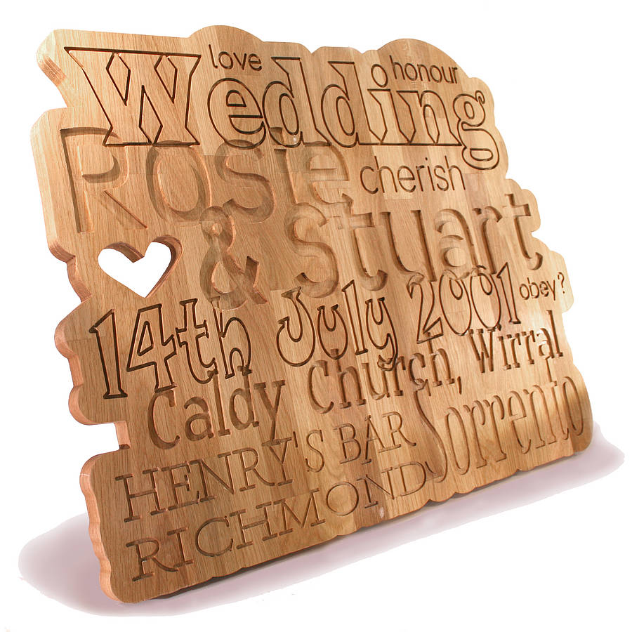 ... , Personalised Anniversary/Wedding Oak Plaque is no longer available