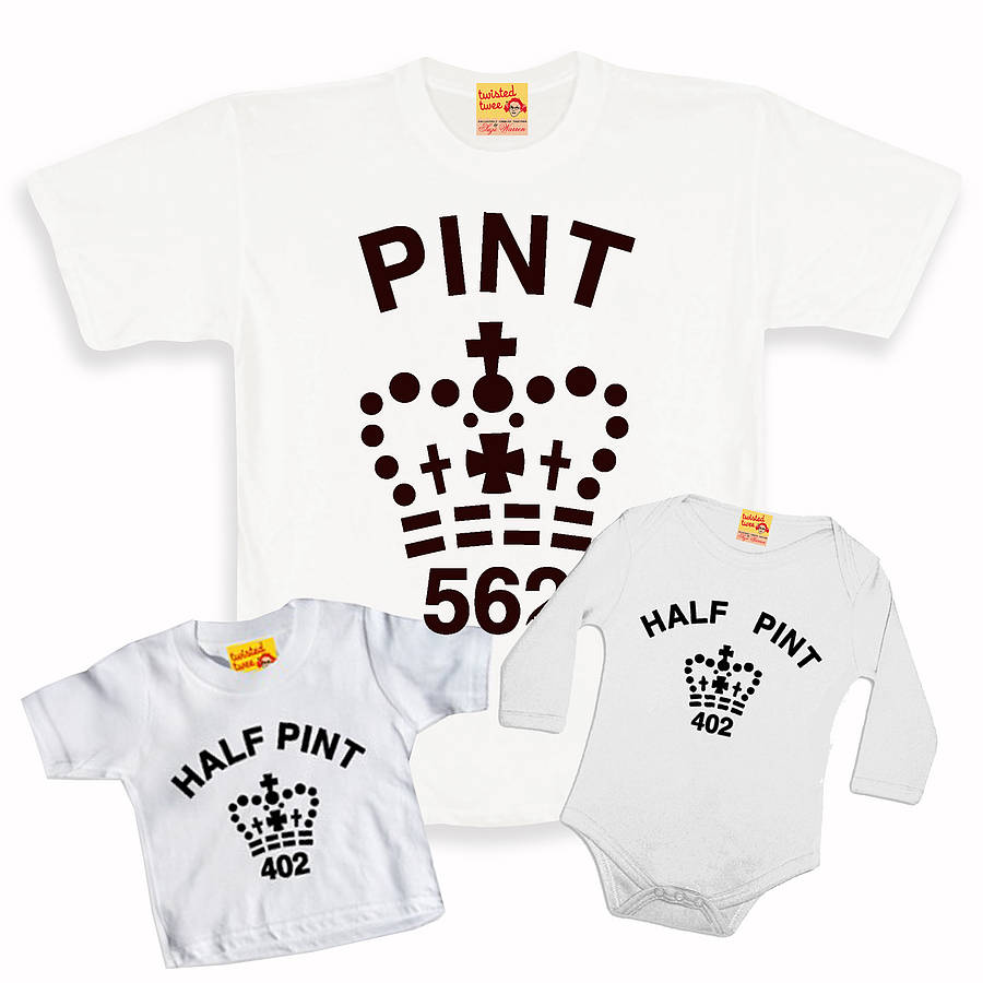 f8f9409d First Father's Day Matching Pint T Shirt Set Dad / Baby. Twisted Twee's ...