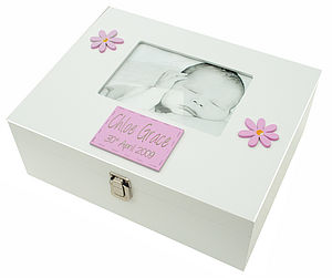 Large Memory Box Girl With Photo Frame