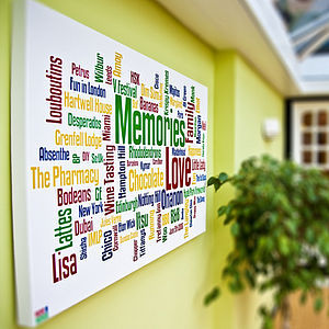 Personalised Family Memories Word Art Print - giclée