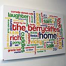 Personalised Family Memories Word Art Print