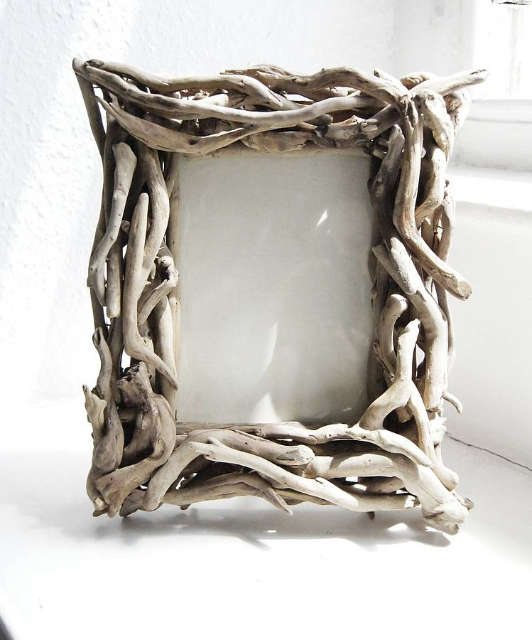 driftwood photo frame by doris brixham | notonthehighstreet.com