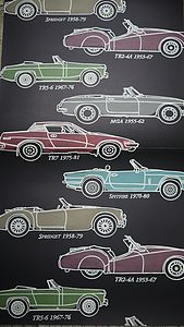 British Classic Car Wallpaper - children's decorative accessories