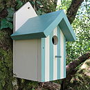 Handcrafted Beach Hut Bird House