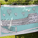 Bath Tea Towel 'Royal Crescent' Aqua