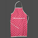 Red Polka Dot Apron
