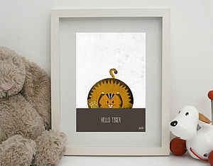 'Hello Tiger' Print Unframed - canvas prints & art
