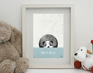 'Panda For Your Love' Print Unframed