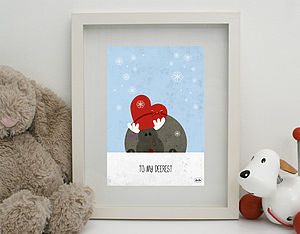 'To My Deerest' Print Unframed - children's room