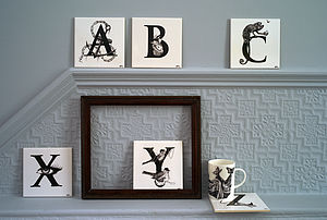 Alphabet Tiles - bathroom