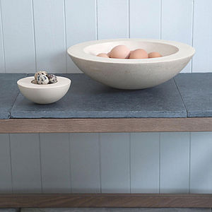 Bath Stone Bowl - tableware