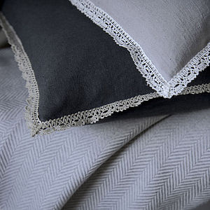 Bessie Lace Trim Cushion