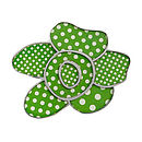Green Polka Dot Flower Brooch