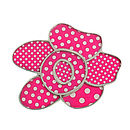Pink Polka Dot Flower Brooch