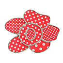 Red Polka Dot Flower Brooch